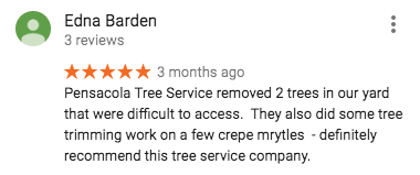 Review of Pensacola Tree Service LLC